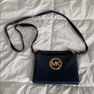 MK navy & gold crossbody bag